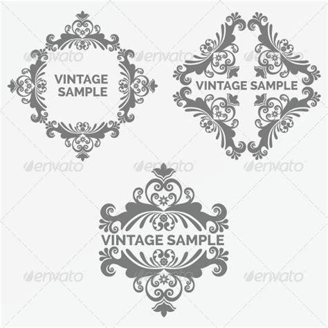 design elements fonts vintage frame 80 design elements fonts and font logo