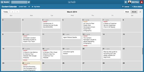 Create An Editorial Calendar For Your Content Marketing Real Estate Marketing Calendar Template