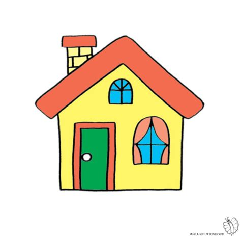 disegno casa sta disegno di casa con camino a colori