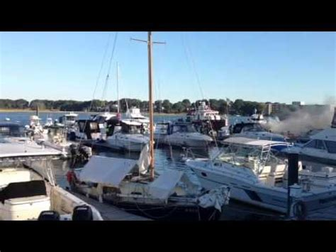 boat storage quincy fire on a boat in quincy s captain s cove marina youtube