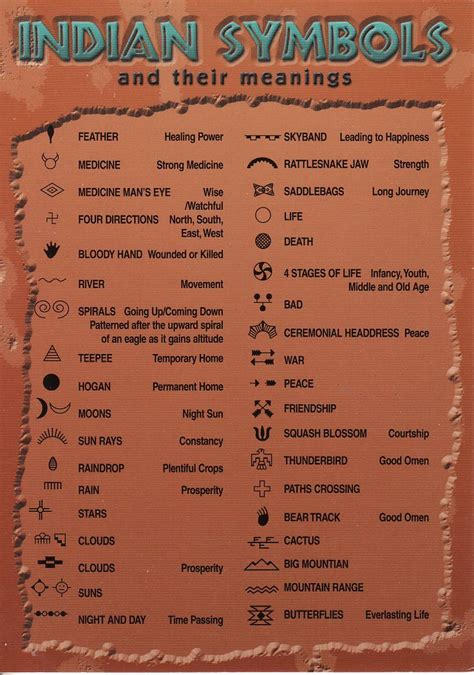 native american indian symbols and their meanings american