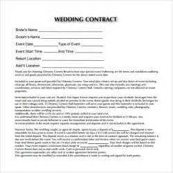 Wedding Photography Contract Template by Wedding Contract Template 13 Free Documents In