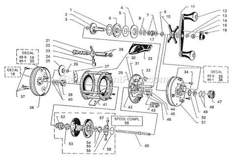 abu garcia reel parts diagram abu garcia 5500 c3 parts list and diagram 89 1