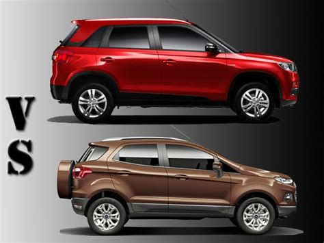 Eco Maruti Suzuki Comparison Maruti Vitara Brezza Vs Ford Ecosport Drivespark