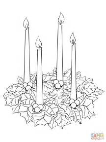 Free Advent Coloring Pages advent wreath coloring page free printable coloring pages