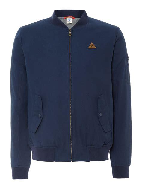 Le Coq Sportif Jacke le coq sportif fantaise mirantin bomber jacket in blue for
