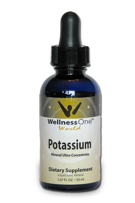 supplement potassium liquid potassium mineral dietary supplement