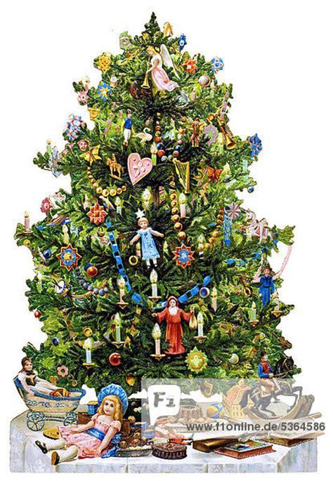 geschm 252 ckter christbaum weihnachtsbaum historische