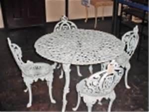 Cast Iron Patio Furniture Sets Vintage Cast Iron Patio Set Table Is 26 Quot X 39 Quot Four Chairs 32 Quot
