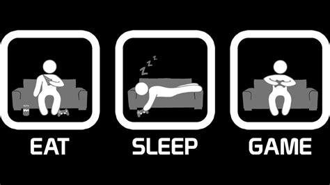 Eat Sleep eat sleep console version t shirt by thehookshot