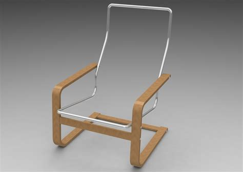 ikea pello chair solidworks stl pro engineer wildfire