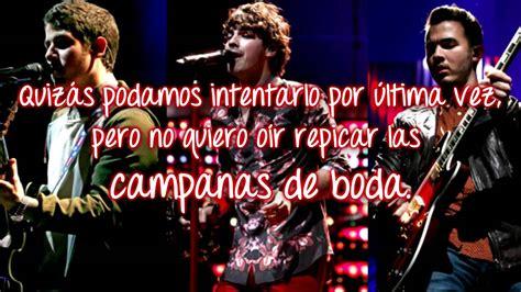 Wedding Bells Jonas Brothers by Wedding Bells Jonas Brothers Traducida Al Espa 241 Ol