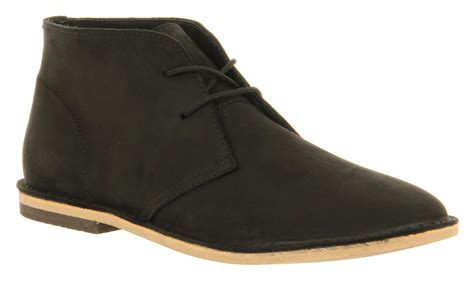 mens desert boot mens ask the missus desert boot black nubuck boots