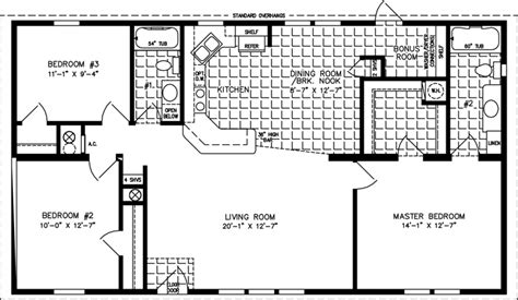 28x48 floor plans a typical three bedroom bungalow plan diagrams joy