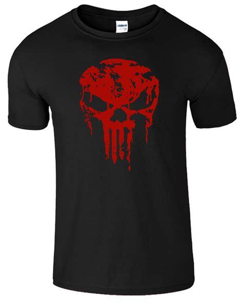 T Shirt Punisher Logo punisher skull bloody mens frank castle logo