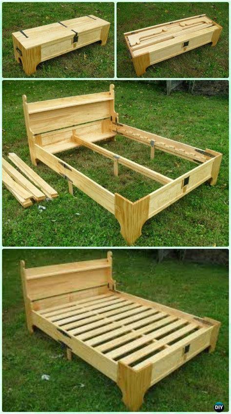 diy space saving bed frame design  plans instructions