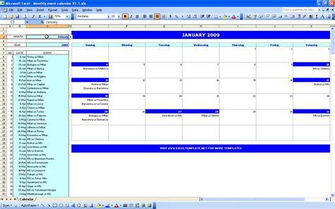 Excel Monthly Calendar Template Downloads ? Blank Calendar