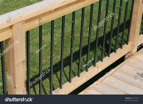 deck railing sections deck railing section stock photo 1817233 shutterstock
