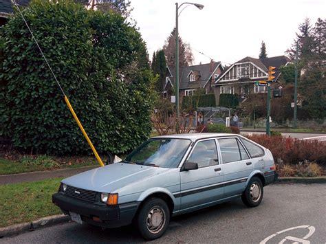 old hatchback old parked cars vancouver 1986 toyota corolla hatchback