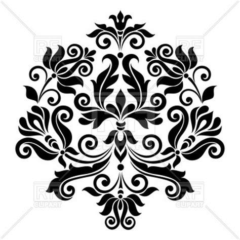 clipart vectors black vintage floral design element vector image of design