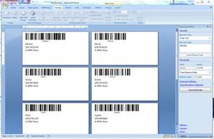 Creating Label Templates In Word by Identifying Objects By Tec It How To Print Barcode