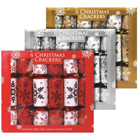 christmas crackers sales in uk 6 pack crackers mini luxury family festive novelty gifts ebay