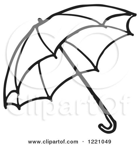 clipart of a black and white umbrella 2 royalty free