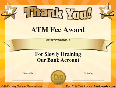 free silly card template office awards 101 printable award certificates
