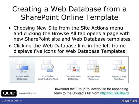 templates for database website ppt moving access tables to sharepoint 2010 or