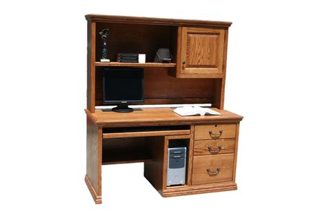 Traditional Computer Desks O T699 Traditional Oak 57 Quot 3 Drawer Computer Desk W Cpu