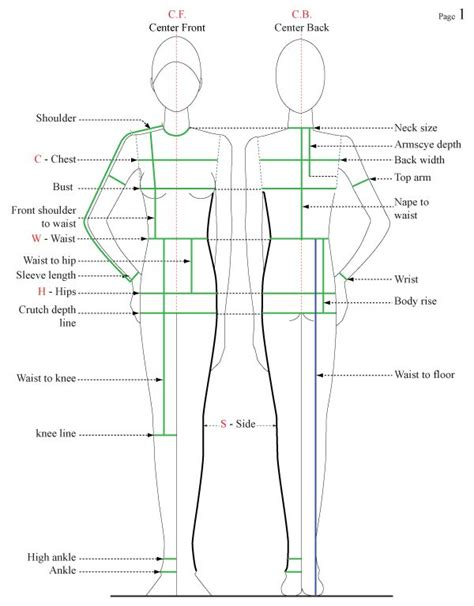 pattern drafting standard measurements how to take body measurements from le divan sewing