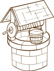 picture of well for colouring clipart best