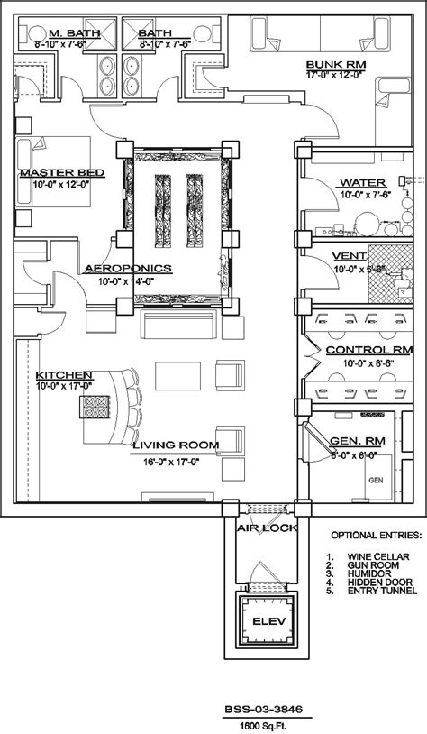 bomb shelter plans bss 03 3846 northwest shelter systems