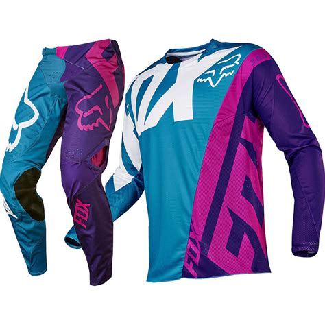 purple motocross gear fox racing 2017 mx 360 creo teal purple jersey