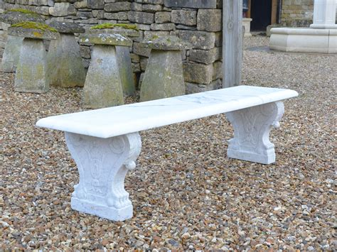 marble garden bench a white marble garden bench c 1910 italy from