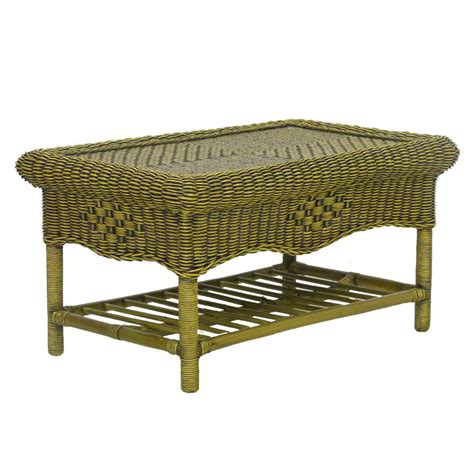 wicker coffee table brown rattan top conservatory