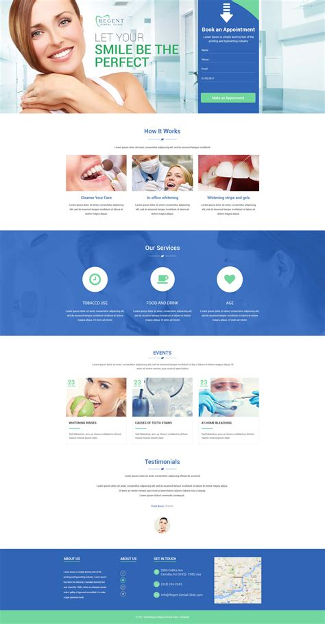 product page design template teeth whitening landing page design template to sale your