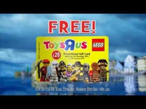 Lego Gift Card Email - free lego gift card only at toys r us youtube