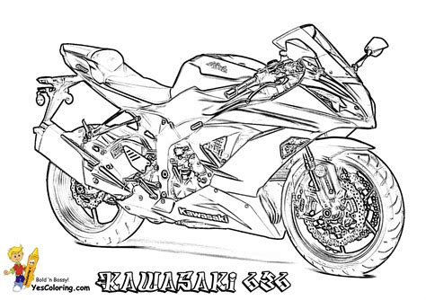 kawasaki ninja coloring pages related keywords suggestions for ninja motorcycle color page