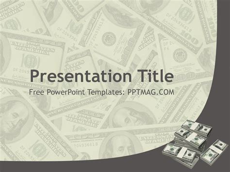 free money powerpoint template pptmag