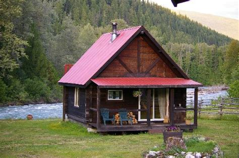 Log Cabin Comfort By The River Picture Of Grizzly Bear