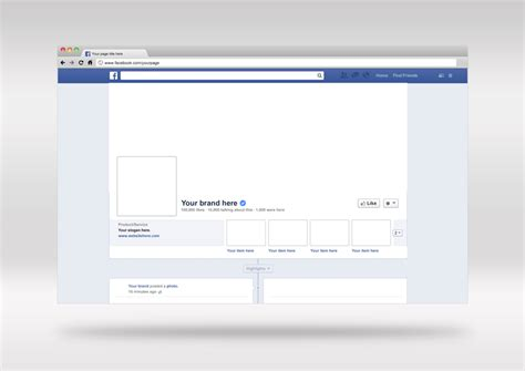 free psd facebook cover brand page mockup design template