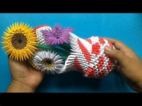 florero origami 3d paso a paso origami 3d arreglo floral