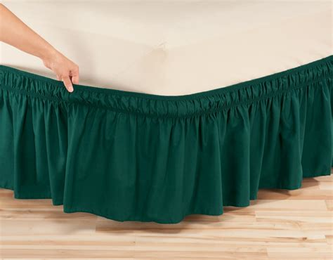 elastic bed skirts solid wrap around elastic bed skirt by oakridge comfortstm