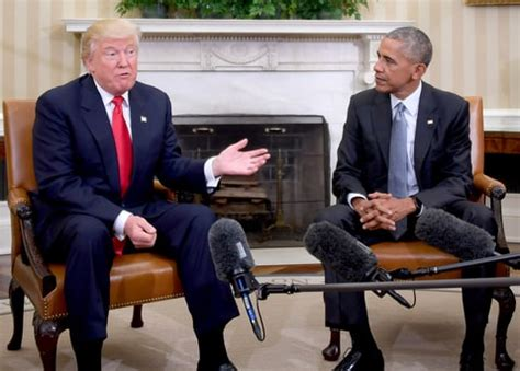 obama s oval office vs trumps president obama donald trump meet at white house post