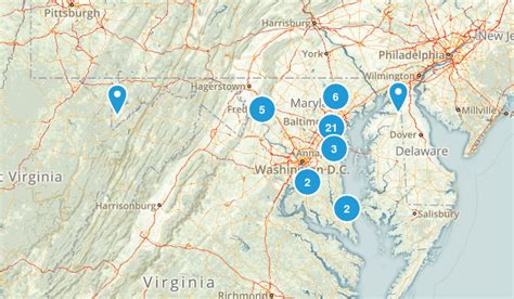 maryland fishing map best fishing trails in maryland alltrails