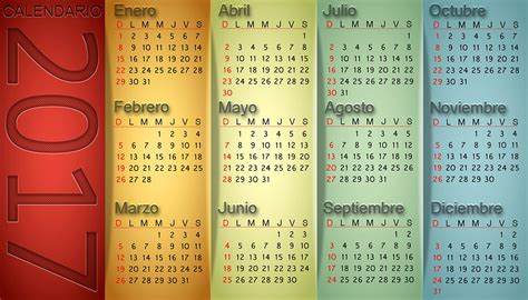 Calendario Lunar Octubre 2017 Mexico Calendario Vertical 2017 Calendarios 2018 Para Photoshop