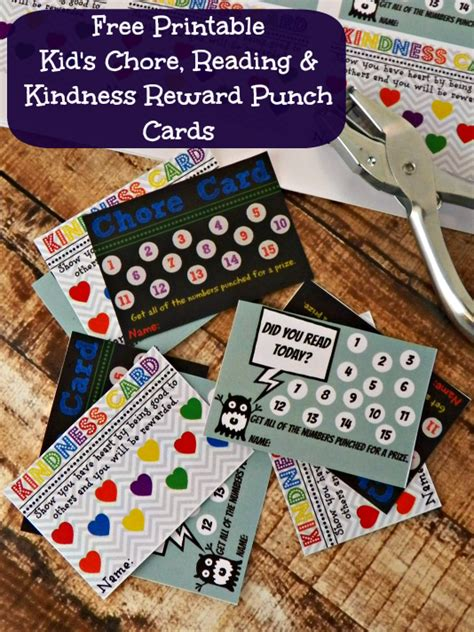 free chore punch card template 4 best images of printable reading punch cards reading