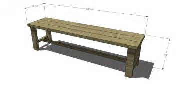 Free diy furniture plans to build a francine dining bench the design