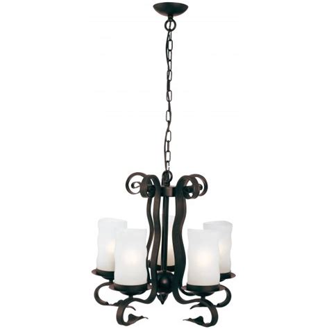 Brown Ceiling Light Searchlight 7915 5br Scroll 5 Light Rustic Brown Ceiling Light